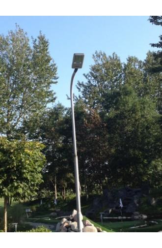 Gadelampe med LED, 60W, 240V, 6000K, IP66